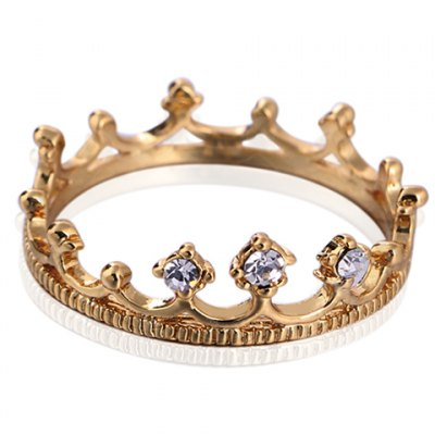 Graceful Solid Color Rhinestone Crown Shape Ring For WomenRings<br>Graceful Solid Color Rhinestone Crown Shape Ring For Women<br><br>Gender: For Women<br>Metal Type: Copper Alloy<br>Style: Romantic<br>Shape/Pattern: Crown<br>Diameter: 1.7CM<br>Weight: 0.03KG<br>Package Contents: 1 x Ring