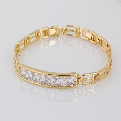 Stunning Faux Crystal Hollow Out Bracelet For Women