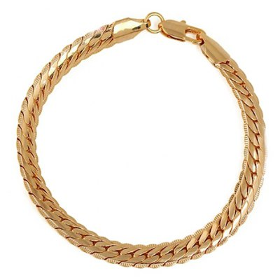 Simple Style Solid Color Snake Bracelet For Women