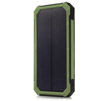 30000mAh Solar Powered Battery Power Bank Camping LampPower Banks<br>30000mAh Solar Powered Battery Power Bank Camping Lamp<br><br>Type: Portable Mobile Powers<br>Compatibility  : Google Nexus 4/5, Samsung Galaxy S4 i9500/i9505, Apple, iPhone 6, LG G2, Samsung, Google Nexus 4/5, Galaxy Note 2 N7100, LG, Motorola, Galaxy Note 3 N9000, LG, iPhone 6 Plus, Google Nexus 7 2nd, iPad<br>Capacity (mAh): 30000mAh<br>Special Functions: Flashlight, Dustproof, Long Lasting, Solar Charger, Backup Power, Quick Charge<br>Connection Type: Two USB Output Interface, Micro USB Interface<br>Battery type: Li-Polymer Battery<br>Color: Black, Green, Orange, Yellow<br>Material: PC, ABS<br>Input: DC 5V 1A<br>Output: DV 5V 1A / 2A<br>Product weight: 0.252 kg<br>Package weight: 0.329 kg<br>Product size (L x W x H) : 15.9 x 7.8 x 1.7 cm / 6.25 x 3.07 x 0.67 inches<br>Package size (L x W x H): 18.9 x 14 x 2.5 cm / 7.43 x 5.50 x 0.98 inches<br>Package Contents : 1 x Power Bank, 1 x USB Charge Cable, 1 x Carabiner