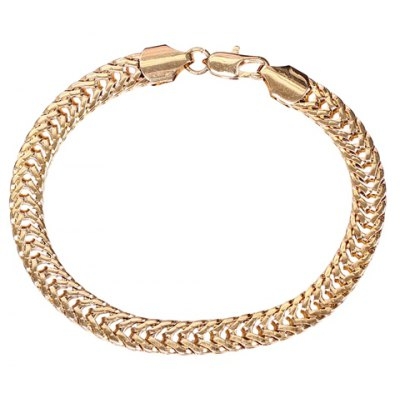 Simple Style Pure Color Hollow Out Chain Bracelet For Women