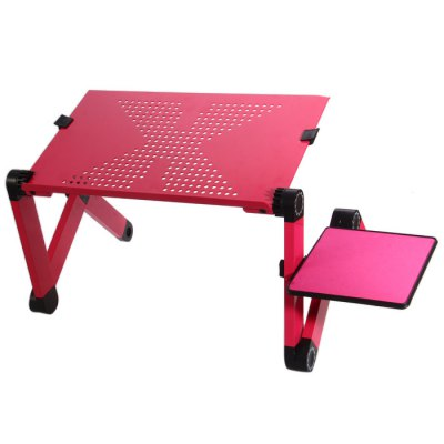 Foldable Computer TableOther Laptop Accessories<br>Foldable Computer Table<br><br>Color: Red, Black<br>Material: Aluminum<br>Product Weight: 1.055 kg<br>Package Weight: 1.557 kg<br>Product Size (L x W x H): 53 x 26.1 x 4.1 cm / 20.83 x 10.26 x 1.61 inches<br>Package Size (L x W x H) : 54.8 x 29 x 5.3 cm / 21.54 x 11.40 x 2.08 inches<br>Package Contents: 1 x Foldable Computer Table, 1 x Mouse Pad, 1 x Torch, 1 x Pack of Accessory, 1 x English Manual
