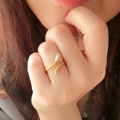 Trendy Little Rose Cuff Ring For Women