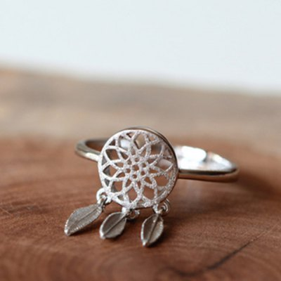 Trendy Solid Color Dream Catcher Cuff Ring For Women фото