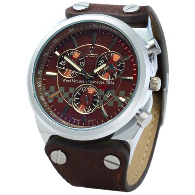 Valia 8285 Sports Male Quartz Watch with Date Function