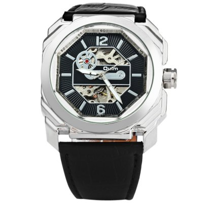 ФОТО Oulm 3218 Men Automatic Mechanical Hollow-out Watch