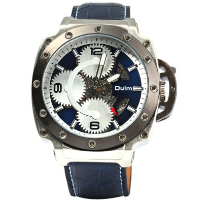 ФОТО Oulm 3479 Men Automatic Mechanical Hollow-out Watch