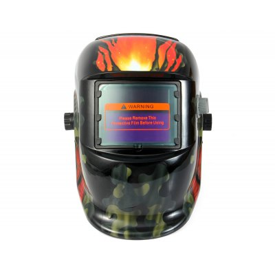 ZDMC-107 Solar Powered Auto Darkening Welding HelmetSoldering Supplies<br>ZDMC-107 Solar Powered Auto Darkening Welding Helmet<br><br>Model: ZDMC-107<br>Material: PP<br>Special function: Protect<br>Light States: DIN4<br>Dark States: DIN9-13<br>UV Protection: 15 Levels<br>Working Temperature: -5 Centigrade-55 Centigrade<br>Storage temperature : -20 Centigrade-70 Centigrade<br>Ultraviolet Transmittance: 313nm less than or equal to 0.00006 percent, 365nm less than or equal to 0.00006 percent<br>Infra Red Transmission: 780-1300nm less than or equal to 0.003 percent, 1300-2000nm less than or equal to 0.009 percent<br>Certificate: CE<br>Product weight: 0.500 kg<br>Package weight: 1.005 kg<br>Product size (L x W x H): 31.00 x 22.00 x 20.00 cm / 12.2 x 8.66 x 7.87 inches<br>Package size (L x W x H): 33.00 x 24.00 x 22.00 cm / 12.99 x 9.45 x 8.66 inches<br>Package Contents: 1 x Solar Power Auto Darkening Welding Helmet, 1 x English Manual