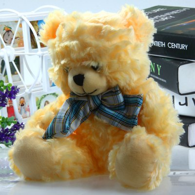 17cm Butterfly Knot Bear Feature Plush Toy Stuffed Doll Christmas Present