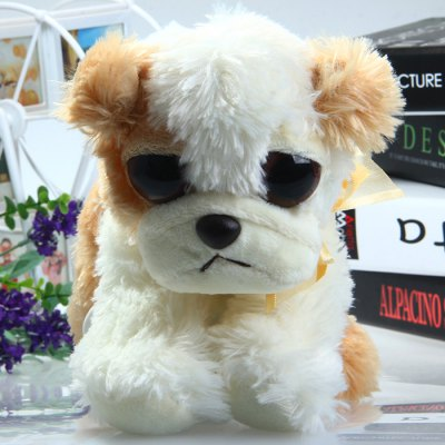 Lovely Big-eye Dog Feature Plush Toy Stuffed Doll Christmas Present - 15cm