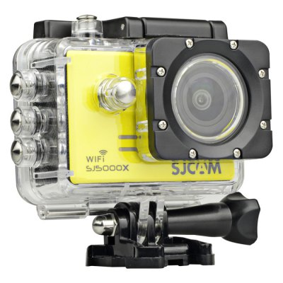 Original SJCAM SJ5000X 4K Sport Action Camera ( Elite Edition )Action Cameras<br>Original SJCAM SJ5000X 4K Sport Action Camera ( Elite Edition )<br><br>Brand: SJCAM<br>Model: SJ5000X<br>Type: HD Car DVR Recorder,Sports Camera<br>Chipset Name: Novatek<br>Chipset: Novatek 96660<br>System requirements: Mac OS x 10.3.6 above,Win 7,Windows 2000 / XP / Vista<br>Max External Card Supported: TF 32G (not included)<br>Class Rating Requirements: Class 6 or Above<br>Screen size: 2.0inch<br>Screen type: LCD<br>Battery Type: Removable<br>Capacity: 900mAh<br>Power Supply: 5V / 1A<br>Charge way: USB charge by PC<br>Working Time: About 80 minutes with WiFi off (at 1080P 60fps and 2K 30fps)<br>Wide Angle: 170 degree wide angle<br>Camera Pixel : 12.0 megapixel<br>ISO: Auto,ISO100,ISO1600,ISO200,ISO400,ISO800<br>Decode Format: H.264<br>Video format: MP4<br>Video Resolution: 1080P (1920 x 1080),2K(2560 x 1440)30fps,4K (3840 x 2160),720P (1280 x 720)<br>Video System: NTSC,PAL<br>Video Output : AV-Out,HDMI<br>Image Format : JPG<br>Audio System : Built-in microphone/speacker (AAC)<br>Exposure Compensation: +1,+1/3,+2,+4/3,+5/3,-1,-1/3,-2,-2/3,-4/3,-5/3,0,2/3<br>White Balance Mode  : Auto,Cloudy,Daylight,Fluorescent,Tungsten<br>WIFI: Yes<br>WiFi Function: Settings<br>WiFi Distance : 10m<br>Waterproof: Yes<br>Waterproof Rating : IP68 with waterproof case, 30m underwater<br>Loop-cycle Recording : Yes<br>Loop-cycle Recording Time: 10min,3min,5min,OFF<br>Motion Detection: Yes<br>HDMI Output: Yes<br>WDR: Yes<br>USB Function: PC-Camera<br>Delay Shutdown : Yes<br>Time Stamp: Yes<br>Interface Type: Micro HDMI,Micro USB,TF Card Slot<br>Language: Cesky,Danish,Deutsch,Dutch,English,French,Hungarian,Italian,Japanese,Polski,Portuguese,Russian,Simplified Chinese,Spanish,Traditional Chinese,Turkish<br>Frequency: 50Hz,60Hz<br>Product weight: 0.068 kg<br>Package weight: 0.750 kg<br>Product size (L x W x H): 6.10 x 2.50 x 4.30 cm / 2.40 x 0.98 x 1.69 inches<br>Package size (L x W x H): 27.00 x 15.00 x 8.00 c