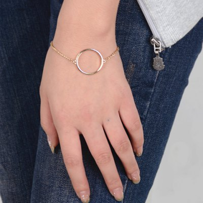 Simple Style Solid Color Geometric Bracelet For Women