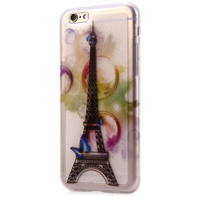 ФОТО Protective Phone Back Case for iPhone 6 with Eiffel Tower Pattern TPU Material Ultra-thin Design