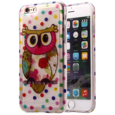 Protective Phone Back Case for iPhone 6 with Owl Pattern TPU Material Ultra-thin Design