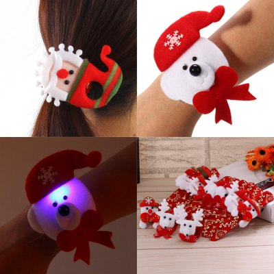 12PCS Colorful LED Light Hand Ring for Christmas