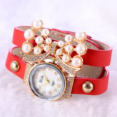 yilisha 2581 Pearl Diamond Bowknot Women Quartz WatchWomens Watches<br>yilisha 2581 Pearl Diamond Bowknot Women Quartz Watch<br><br>Brand: yilisha<br>Watches categories: Female table<br>Available color: Plum, Blue, Azure, Purple, Red, Brown, Black, Yellow, White<br>Style: Fashion&amp;Casual, Bracelet<br>Movement type: Quartz watch<br>Shape of the dial: Round<br>Display type: Analog<br>Case material: Alloy<br>Band material: PU<br>Clasp type: Buckle<br>The dial thickness: 0.9 cm / 0.35 inches<br>The dial diameter: 2.6 cm / 1.02 inches<br>The band width: 2.8 cm / 1.1 inches<br>Product weight: 0.031 kg<br>Package weight: 0.081 kg<br>Product size (L x W x H) : 22.7 x 2.6 x 0.9 cm / 8.92 x 1.02 x 0.35 inches<br>Package size (L x W x H): 23.7 x 3.6 x 1.9 cm / 9.31 x 1.41 x 0.75 inches<br>Package contents: 1 x yilisha 2581 Watch