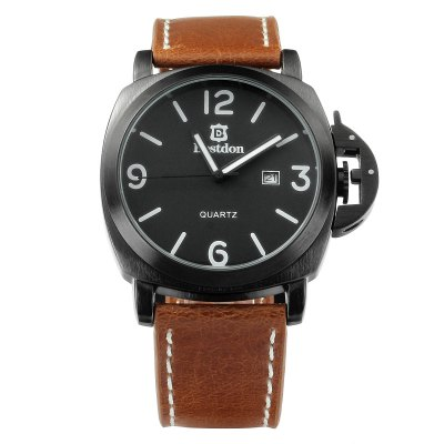 Bestdon BD5512G Genuine Leather Band Male Quartz WatchMens Watches<br>Bestdon BD5512G Genuine Leather Band Male Quartz Watch<br><br>Brand: Bestdon<br>Watches categories: Male table<br>Watch style: Fashion<br>Available color: Black, Silver<br>Movement type: Quartz watch<br>Shape of the dial: Round<br>Display type: Analog<br>Case material: Stainless steel<br>Band material: Genuine leather<br>Clasp type: Pin buckle<br>Special features: Date<br>Water resistance: 50 meters<br>The dial thickness: 1.0 cm / 0.39 inches<br>The dial diameter: 3.6 cm / 1.41 inches<br>The band width: 2.3 cm / 0.91 inches<br>Product weight: 0.072 kg<br>Package weight: 0.136 kg<br>Product size (L x W x H): 25 x 3.6 x 1 cm / 9.83 x 1.41 x 0.39 inches<br>Package size (L x W x H): 8.5 x 8 x 5 cm / 3.34 x 3.14 x 1.97 inches<br>Package contents: 1 x Bestdon BD5512G Watch