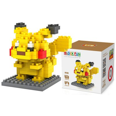 LOZ 120Pcs M - 9136 Pokemon Pikachu Building Block Educational Toy for Cooperation Ability
