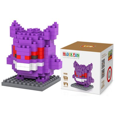 LOZ 150Pcs M - 9138 Pokemon Gengar Building Block Educational Toy for Cooperation Ability