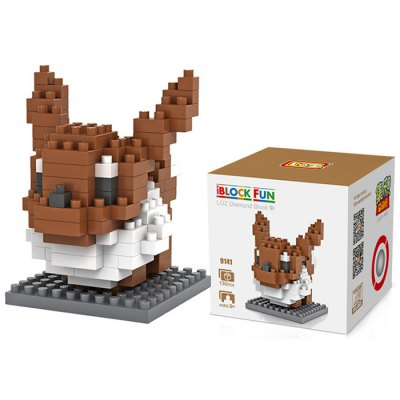 LOZ 130Pcs M - 9141 Pokemon Eevee Building Block Educational Toy for Cooperation Ability