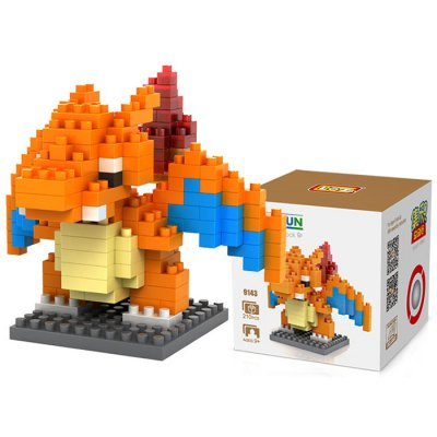 LOZ 210Pcs M - 9143 Charizard Pokemon Building Block Educational Toy for Cooperation Ability
