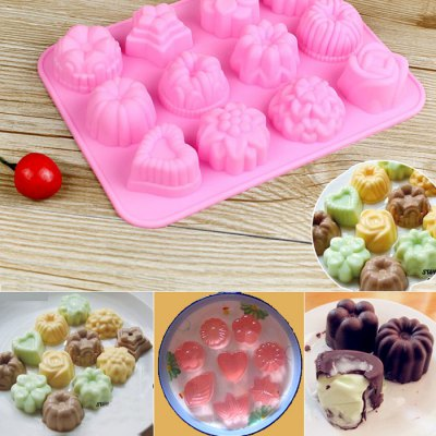 Silicone Flower and Grass Design DIY Baking Mold
