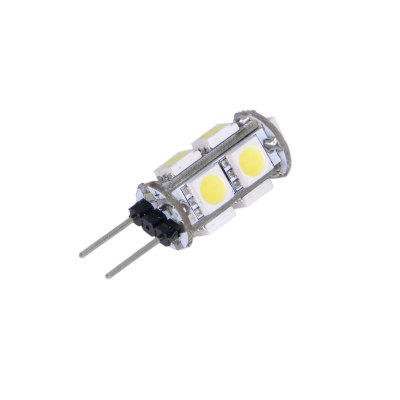 10pcs 2W G4 110Lm SMD 5050 6000K LED Corn LightLED Light Bulbs<br>10pcs 2W G4 110Lm SMD 5050 6000K LED Corn Light<br><br>Holder: G4<br>Type: Corn Bulbs<br>Output Power: 2W<br>Emitter Types: SMD 5050<br>Total Emitters: 9<br>Luminous Flux: 110Lm<br>CCT/Wavelength: 3000K, 6000K<br>Voltage (V): DC 12<br>Angle: 360 degree<br>Features: Energy Saving, Long Life Expectancy<br>Function: Studio and Exhibition Lighting, Home Lighting, Commercial Lighting<br>Available Light Color: Warm White<br>Product Weight: 0.004 kg<br>Package Weight: 0.060 kg<br>Product Size (L x W x H): 3.3 x 1.1 x 1.1 cm / 1.30 x 0.43 x 0.43 inches<br>Package Size (L x W x H): 13 x 9 x 3 cm / 5.11 x 3.54 x 1.18 inches<br>Package Contents: 10 x G4 LED Corn Light