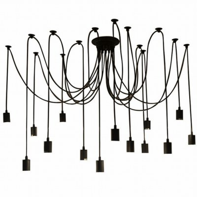 E27 Retro Style Pendant Light Lamp HolderPendant Lights<br>E27 Retro Style Pendant Light Lamp Holder<br><br>Accessory type: Lamp Holder<br>Input Voltage: AC 86-256V<br>Connector type: E27<br>Material: Iron<br>Available color: Black<br>Product weight: 2.300 kg<br>Package weight: 3.100 kg<br>Product size (L x W x H): 29 x 29 x 19 cm / 11.40 x 11.40 x 7.47 inches<br>Package size (L x W x H): 30 x 30 x 20 cm / 11.79 x 11.79 x 7.86 inches<br>Package Contents: 7 x Pendant Lamp Holder Cable, 1 x Lamp Mounting, 14 x Cable Mounting, 1 x Accessory Package