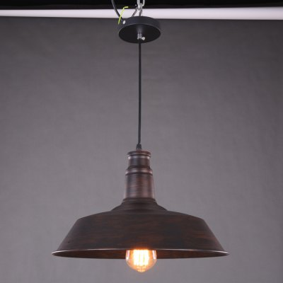 Rustic Style E27 Pot Cover Pendant Lamp Holder