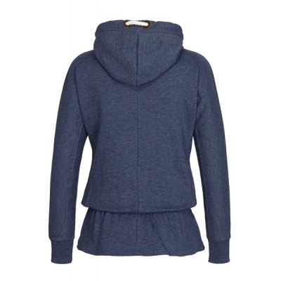 Chic Womens Hooded Long Sleeve Flounce HoodieWomens Hoodies &amp; Sweatshirts<br>Chic Womens Hooded Long Sleeve Flounce Hoodie<br><br>Material: Polyester<br>Clothing Length: Regular<br>Sleeve Length: Full<br>Style: Fashion<br>Pattern Style: Solid<br>Weight: 0.417KG<br>Package Contents: 1 x Hoodie