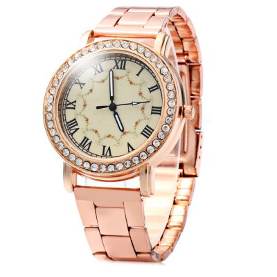 Golden Body Lady Diamond Quartz Watch