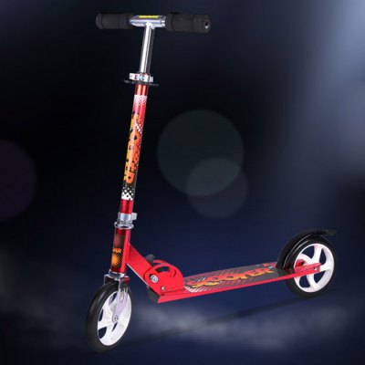 Hanchi Two Wheel Kick Scooter with Arc Pedal Brake - Hanchi - HanchiKick Scooter<br>Hanchi Two Wheel Kick Scooter with Arc Pedal Brake<br><br>Brand: Hanchi<br>Type: Two Wheels<br>Suitable for: Children Among 2-5 Years Old, Adults<br>Maximum Payload: 100kg<br>Material: Aluminum Alloy<br>Wheel Material: PU<br>Color: Blue, Black, Red<br>Folding: Yes<br>Product Weight: 4.900 kg<br>Package Weight: 5.5 kg<br>Product Size: 92 x 15 x 102 cm / 36.16 x 5.90 x 40.09 inches<br>Package Size: 95 x 18 x 25 cm / 37.34 x 7.07 x 9.83 inches<br>Package Content: 1 x Hanchi Two Wheels Kick Scooter