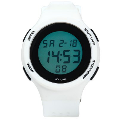 Male LED Sports WatchLED Watches<br>Male LED Sports Watch<br><br>People: Male table<br>Watch style: Outdoor Sports, LED<br>Available color: Yellow, Gray, Black, Plum, White, Blue, Green<br>Shape of the dial: Round<br>Movement type: Digital watch<br>Display type: Digital<br>Hour formats: 24 Hour<br>Case material: PC<br>Band material: Rubber<br>Clasp type: Pin buckle<br>Special features: Day, Date, Alarm clock, Stopwatch, EL Back-light<br>Water resistance: 30 meters<br>The dial thickness: 0.8 cm / 0.31 inches<br>The dial diameter: 4.2 cm / 1.65 inches<br>The band width: 2.2 cm / 0.86 inches<br>Wearable length: 15.5 - 22 cm / 6.1 - 8.66 inches<br>Product weight: 0.037 kg<br>Package weight: 0.087 kg<br>Product size (L x W x H) : 24 x 4.2 x 0.8 cm / 9.43 x 1.65 x 0.31 inches<br>Package size (L x W x H): 25 x 5.2 x 1.8 cm / 9.83 x 2.04 x 0.71 inches<br>Package contents: 1 x LED Sports Watch