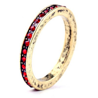 Charming Faux Crystal Round Ring For Women