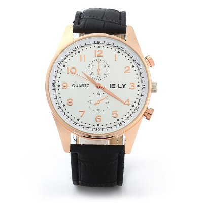 IE-LY Decorative Sub-dials Quartz Watch for MenMens Watches<br>IE-LY Decorative Sub-dials Quartz Watch for Men<br><br>Brand: IE-LY<br>Watches categories: Male table<br>Watch style: Fashion<br>Available color: Black, White, Red, Brown, Deep Brown<br>Movement type: Quartz watch<br>Shape of the dial: Round<br>Display type: Analog<br>Case material: Stainless steel<br>Band material: Leather<br>Clasp type: Pin buckle<br>Special features: Decorating small sub-dials<br>The dial thickness: 0.8 cm / 0.31 inches<br>The dial diameter: 4.0 cm / 1.57 inches<br>The band width: 2.0 cm / 0.79 inches<br>Wearable length: 17 - 21 cm / 6.69 - 8.27 inches<br>Product weight: 0.042 kg<br>Package weight: 0.092 kg<br>Product size (L x W x H): 24 x 4.0 x 0.8 cm / 9.43 x 1.57 x 0.31 inches<br>Package size (L x W x H): 25 x 5.0 x 1.8 cm / 9.83 x 1.97 x 0.71 inches<br>Package contents: 1 x IE-LY Watch