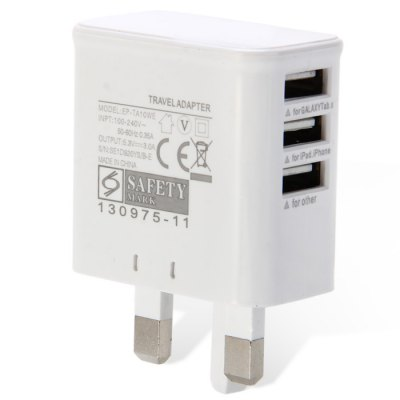 Home Wall 3 Port USB Power Adapter / Charger