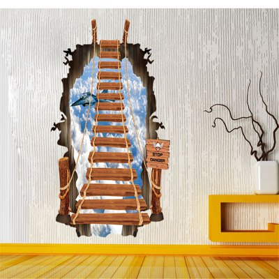 3d stairs design removable pvc wall stickers online shopping - Stickers pour escalier ...