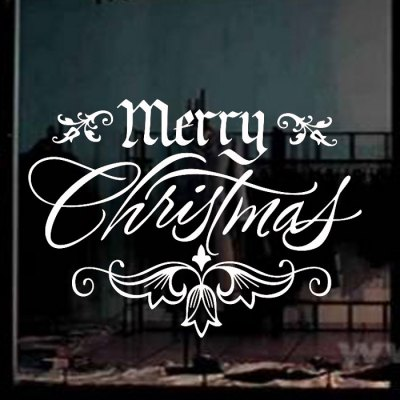 christmas-greetings-style-removable-wallpaper