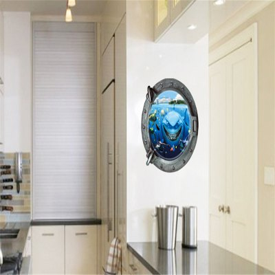 3D Underwater World and Shark Wall Stickers