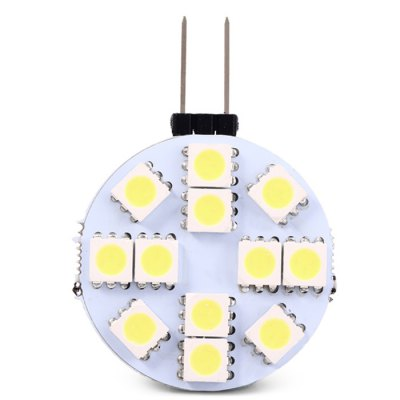 2PCS G4 - 12SMD5050 2W 189LM Car Clearance Lamp