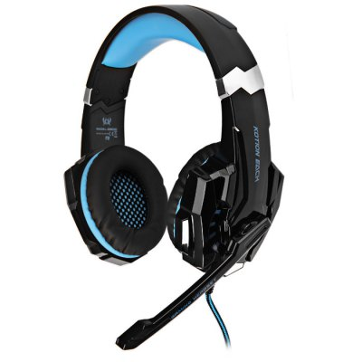 KOTION EACH G9000 7.1 Surround Sound Gaming HeadsetGaming Headphones<br>KOTION EACH G9000 7.1 Surround Sound Gaming Headset<br><br>Brand: EACH<br>Model  : G9000<br>Color : Blue, Red<br>Wearing type : Headband<br>Function : Microphone, Voice control<br>Connectivity : Wired<br>Application : Computer<br>Plug Type: USB, Full-sized<br>Cable length : 2.2±0.15m<br>Driver unit: 50mm<br>Sound channel: Two-channel (stereo)<br>Frequency response : 20~22000Hz<br>Impedance : 32ohms±15 percent<br>Sensitivity : 108dB + / - 3dB<br>Microphone sensitivity: -38±3dB<br>Microphone impedance : 2.2kohm<br>Microphone dimension: 6 x 5.0mm<br>Working voltage: DC5V + / - 5 percent<br>Product weight  : 0.320 kg<br>Package weight  : 0.700 kg<br>Package size (L x W x H) : 23 x 10.5 x 24.5 cm / 9.04 x 4.13 x 9.63 inches<br>Package contents: 1 x EACH G9000 7.1 Surround Sound Gaming Headset, 1 x CD, 1 x English and Chinese User Manual