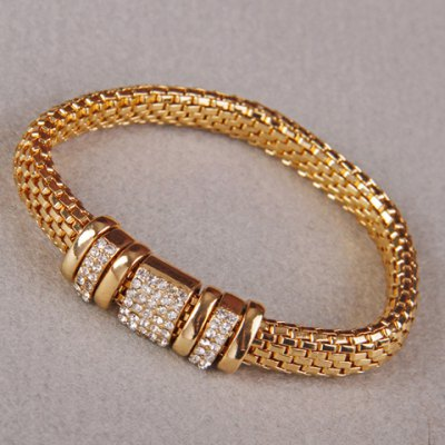 Chic Solid Color Rhinestone Bracelet For Women