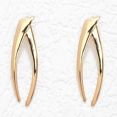 Pair of Unique Solid Color Two Piece Earrings For Women