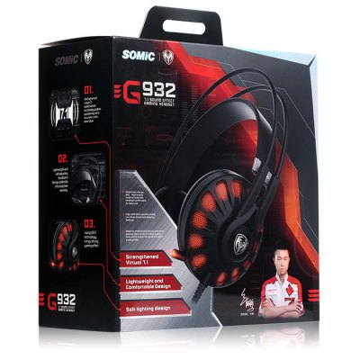 Somic G932 7.1 Virtual Surround Sound USB Gaming Headset with Mic от GearBest.com INT