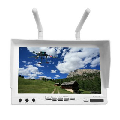 RC732 - DVR FPV 7 Inch Monitor 32 Channel 800 x 480 Built-in 5.8GHz Receiver TFT LCD Display