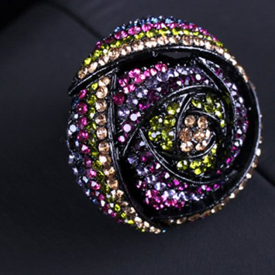 Graceful Rhinestoned Rose Floral Ring For WomenRings<br>Graceful Rhinestoned Rose Floral Ring For Women<br><br>Gender: For Women<br>Metal Type: Alloy<br>Style: Classic<br>Shape/Pattern: Floral<br>Diameter: 1.7CM<br>Weight: 0.05KG<br>Package Contents: 1 x Ring