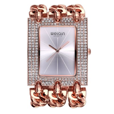 WeiQin 2780 Female Quartz WatchWomens Watches<br>WeiQin 2780 Female Quartz Watch<br><br>Brand: Weiqin<br>Watches categories: Female table<br>Available color: Golden, Rose Gold, Silver and Golden, Rose Gold and Silver, Silver<br>Style: Fashion&amp;Casual, Bracelet<br>Movement type: Quartz watch<br>Shape of the dial: Square<br>Display type: Analog<br>Case material: Alloy<br>Band material: Alloys<br>Clasp type: Sheet folding clasp<br>The dial thickness: 0.9 cm / 0.35 inches<br>The dial diameter: 4.0 cm / 1.57 inches<br>The band width: 3.7 cm / 1.45 inches<br>Product weight: 0.150 kg<br>Package weight: 0.200 kg<br>Product size (L x W x H) : 20.8 x 4 x 0.9 cm / 8.17 x 1.57 x 0.35 inches<br>Package size (L x W x H): 21.8 x 5 x 1.9 cm / 8.57 x 1.97 x 0.75 inches<br>Package contents: 1 x WeiQin 2780 Watch