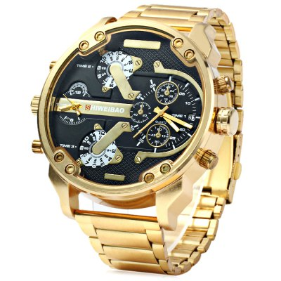 Shiweibao A3137 Men Quartz WatchMens Watches<br>Shiweibao A3137 Men Quartz Watch<br><br>Brand: Shiweibao<br>Watches categories: Male table<br>Watch style: Fashion<br>Available color: Black, White<br>Movement type: Double-movtz<br>Shape of the dial: Round<br>Display type: Analog<br>Case material: Stainless steel<br>Band material: Stainless steel<br>Clasp type: Folding clasp with safety<br>Special features: Decorating small sub-dials, Date<br>The dial thickness: 1.5 cm / 0.59 inches<br>The dial diameter: 5.7 cm / 2.24 inches<br>The band width: 2.2 cm / 0.87 inches<br>Product weight: 0.150 kg<br>Package weight: 0.20 kg<br>Product size (L x W x H): 20 x 5.7 x 1.5 cm / 7.86 x 2.24 x 0.59 inches<br>Package size (L x W x H): 21 x 6.7 x 2.5 cm / 8.25 x 2.63 x 0.98 inches<br>Package contents: 1 x Shiweibao A3137 Watch