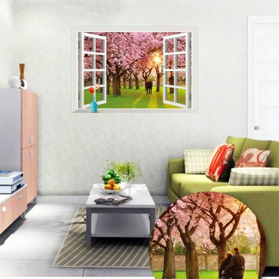 3D Romantic Cherry Tree PVC Wall StickersChristmas Supplies<br>3D Romantic Cherry Tree PVC Wall Stickers<br><br>Subjects: Landscape, Still Life, Others<br>Art Style: Plane Wall Stickers, Toilet Stickers<br>Sizes: 60 x 90cm<br>Functions: Decorative Wall Stickers<br>Hang In/Stick On: Lobby, Cafes, Kids Room, Hotels, Living Rooms, Bathroom, Bedrooms, Toilet, Nurseries, Stair, Offices<br>Effect Size (L x W): 60 x 90cm<br>Product weight   : 0.150 kg<br>Package weight   : 0.180 kg<br>Product size (L x W x H)   : 60 x 90 x 0.5 cm / 23.58 x 35.37 x 0.20 inches<br>Package size (L x W x H)  : 60 x 5 x 5 cm / 23.58 x 1.97 x 1.97 inches<br>Package Contents: 1 x Wall Sticker