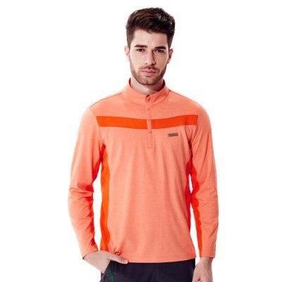 Naturehike NH15S008-G Men Stand-collar Long Sleeve T-shirtShirts<br>Naturehike NH15S008-G Men Stand-collar Long Sleeve T-shirt<br><br>Brand: Marsnow<br>Model Number: NH15S008 - G<br>Color: Gray, Orange, Army Green<br>Material: Polyester<br>Gender: Men<br>Size: 2XL, L, XL<br>Best Use: Fitness, Sports, Cycling, Camping, Leisures, Climbing, Running<br>Product Weight: 0.330 kg<br>Package Weight: 0.410 kg<br>Package Size: 35 x 30 x 7 cm / 13.76 x 11.79 x 2.75 inches<br>Package Contents: 1 x Naturehike NH15S008-G Men Stand-collar Long Sleeve T-shirt